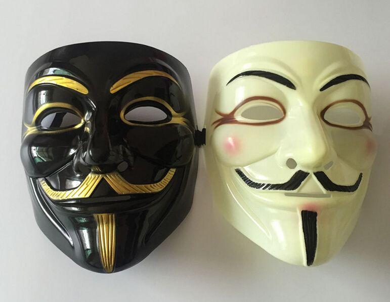 Новый V для Вендетты Halloween Party Маски Анонимные Необычные Платья Необычные Косплей Карнавальные Костюмы Праздничные Атрибуты K5366