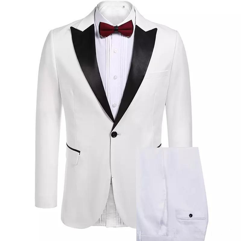 New Custom Made Slim Fit Men Suits for Wedding Tuxedos 2 Piece (Jacket+Pants) Prom Wear Evening Party Suits Blazer 484