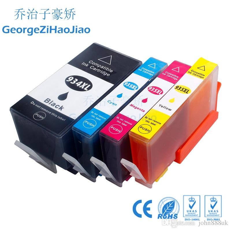 4 HP934XL 935XL Officejet Için Uyumlu Mürekkep Kartuşları Pro 6230 6830 6815 6812 6835 6820 Yazıcı