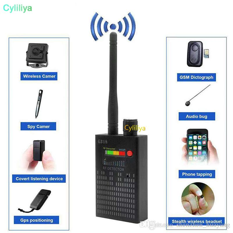 G318 المحمولة كاشف لاسلكية RF إشارة كاشف CDMA إشارة كاشف عالية الحساسية الكشف عن عدسة الكاميرا / تحديد المواقع لتحديد المواقع