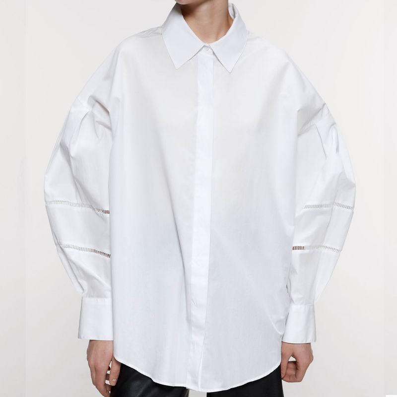 Women White Shirt 2020 Spring New Fashion Wide and Loose Tops Modern Lady Plus Size Long Shirts