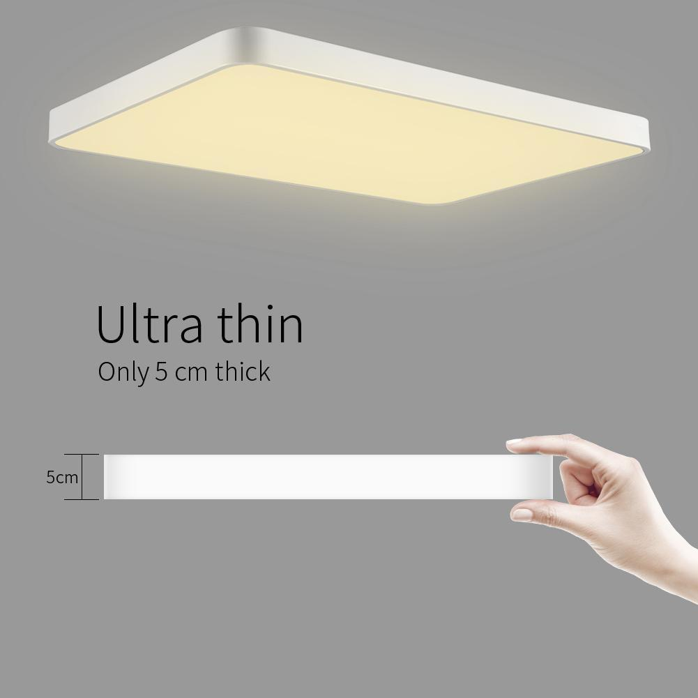 72W ultra ince LED tavan lambası oturma odası lamba ev sade modern tarz ultra ince Elektrodsuz karartma güç tasarrufu tavan lambası