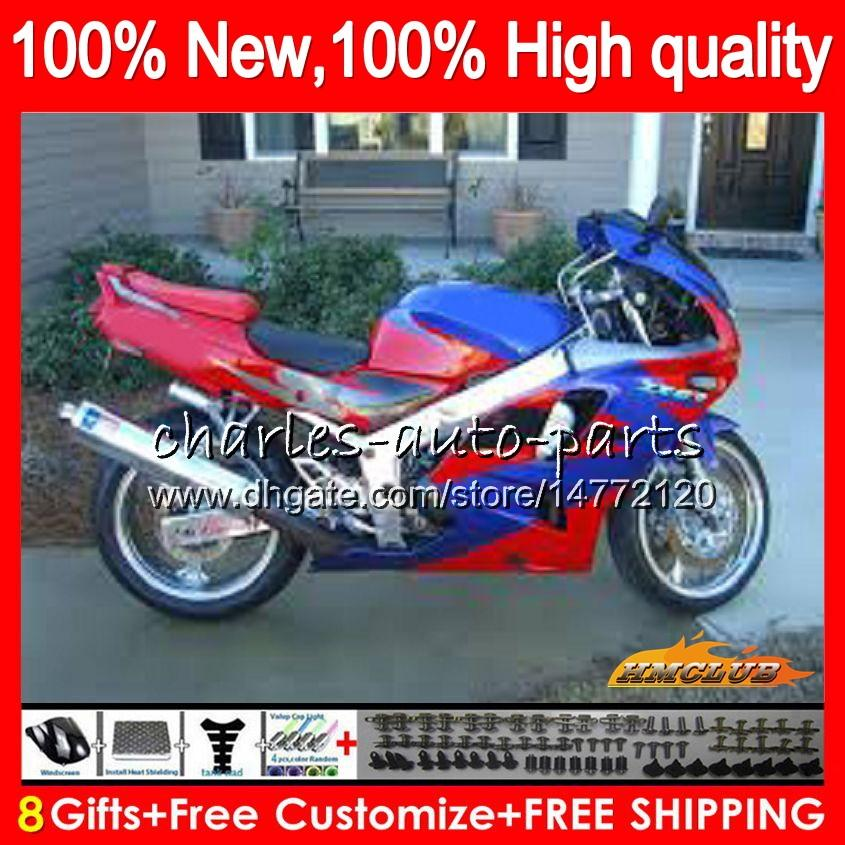 Body For KAWASAKI ZX 636 600CC ZX-636 ZX6R red blue new 94 95 96 97 50HC.96 ZX636 ZX-6R ZX600 ZX 6 R 6R 1994 1995 1996 1997 Full Fairing kit