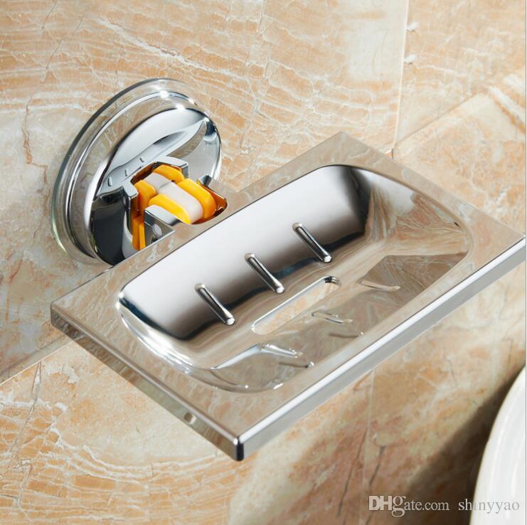 Lavandino del bagno Lavandino del WC Potente Spugne di aspirazione Supporto Cremagliera Ventosa Lavapiatti Scrubbers Sapone Conservazione