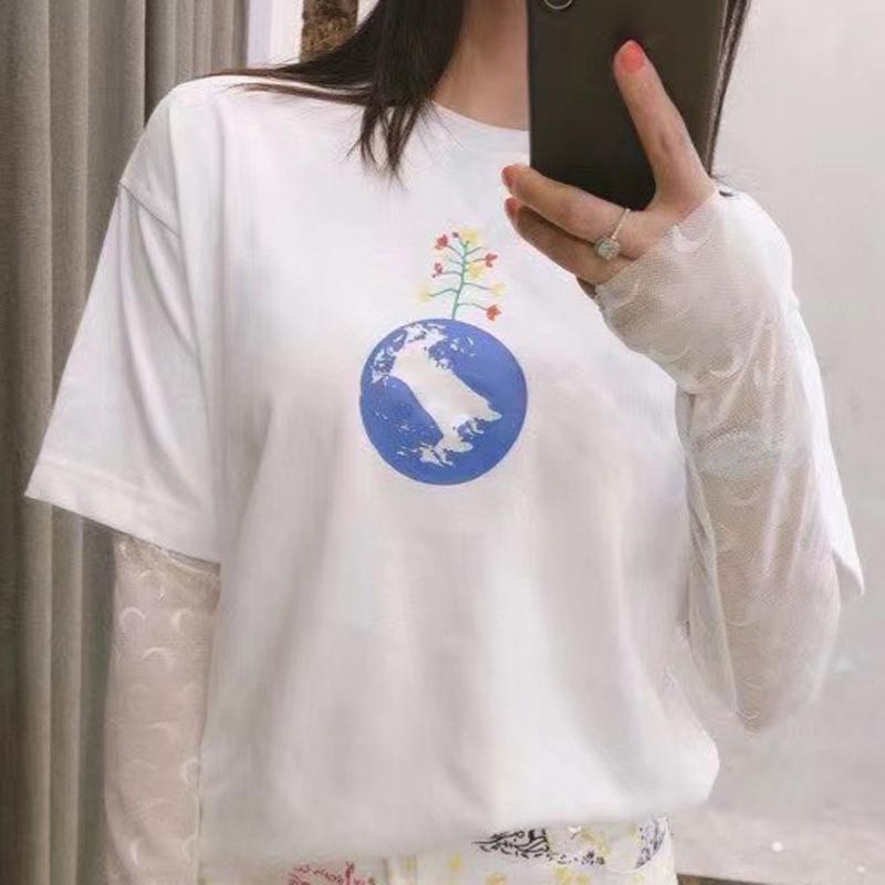 Nouveau JOUR DE LA TERRE T Lettre Imprimé d'été Hommes Femmes Simple couleur solide T-shirt Rue Planche à roulettes à manches courtes respirant HFYMTX882