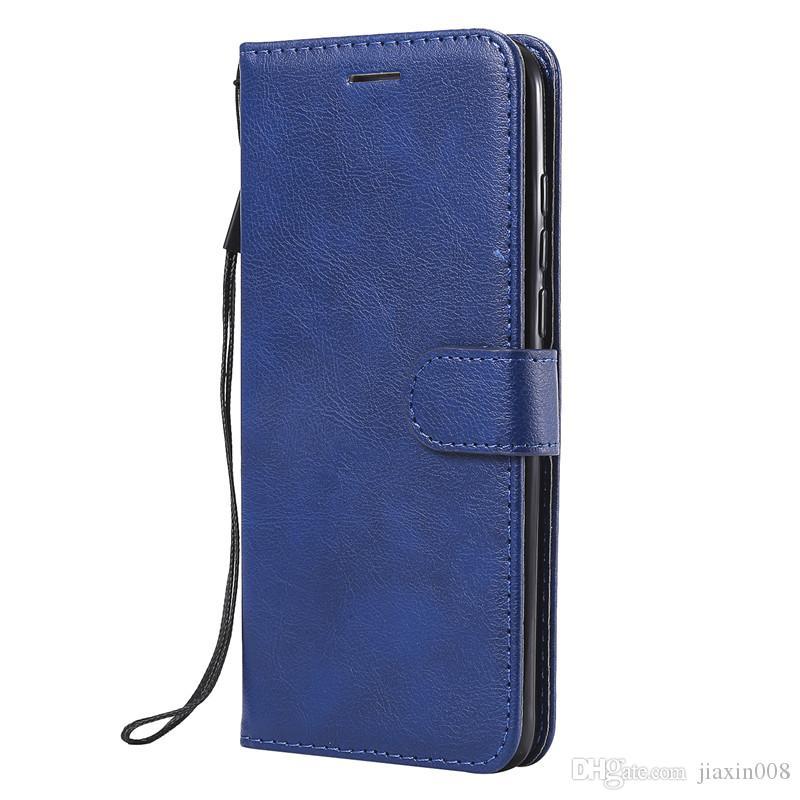 Para el caso de Huawei P30 Lite cubierta del tirón de la cartera soporte del color puro de la PU de cuero bolsos del teléfono móvil Fundas para Huawei Nova 4e