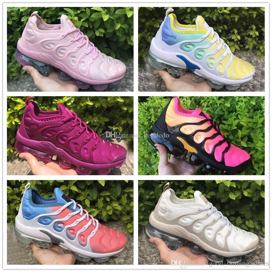 2018 Vente en gros de haute qualité arc-en-plein Noir whitered TN Run Sport Sneakers Chaussures Chaussures de sport pour femmes Taille des femmes 36-40