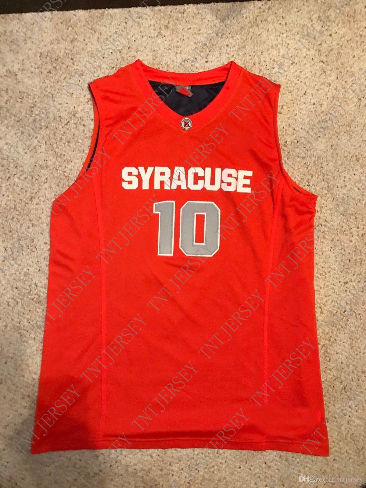 ordinazione poco costoso 2009 Syracuse Orange # 10 pallacanestro Jersey Jonny Flynn CUCITO cucita Personalizza qualsiasi nome numero UOMINI DONNE GIOVANI XS-5XL