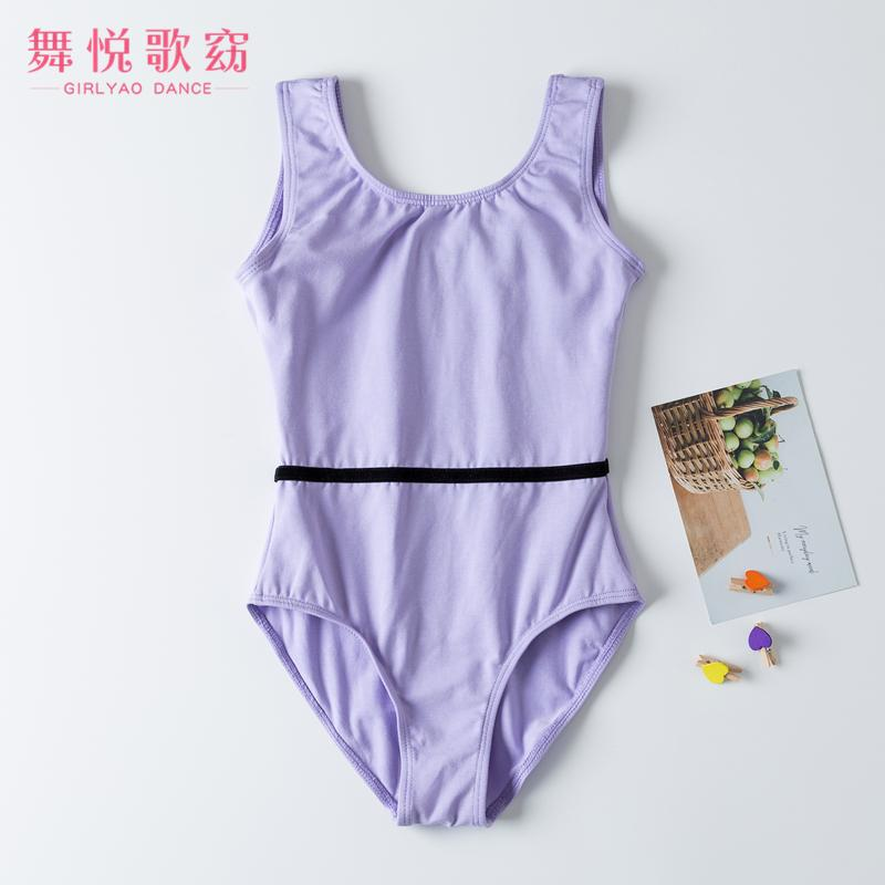 2020New Cotton Tank Childrens Ballet Training Dancewear Gymbastic Leotards Dancing