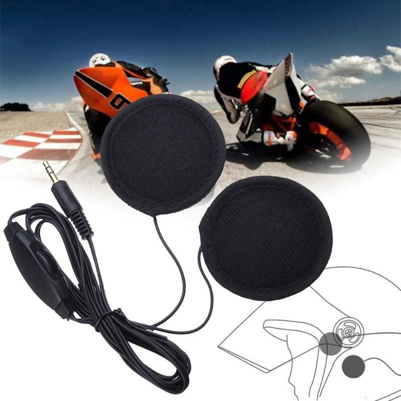 Kulaklık Kulaklık Motosiklet Sürüş Ekipmanları 3.5mm Jacks Mikrofon Ayarlanabilir Tak Motosiklet Kaskı Stereo Çağrı