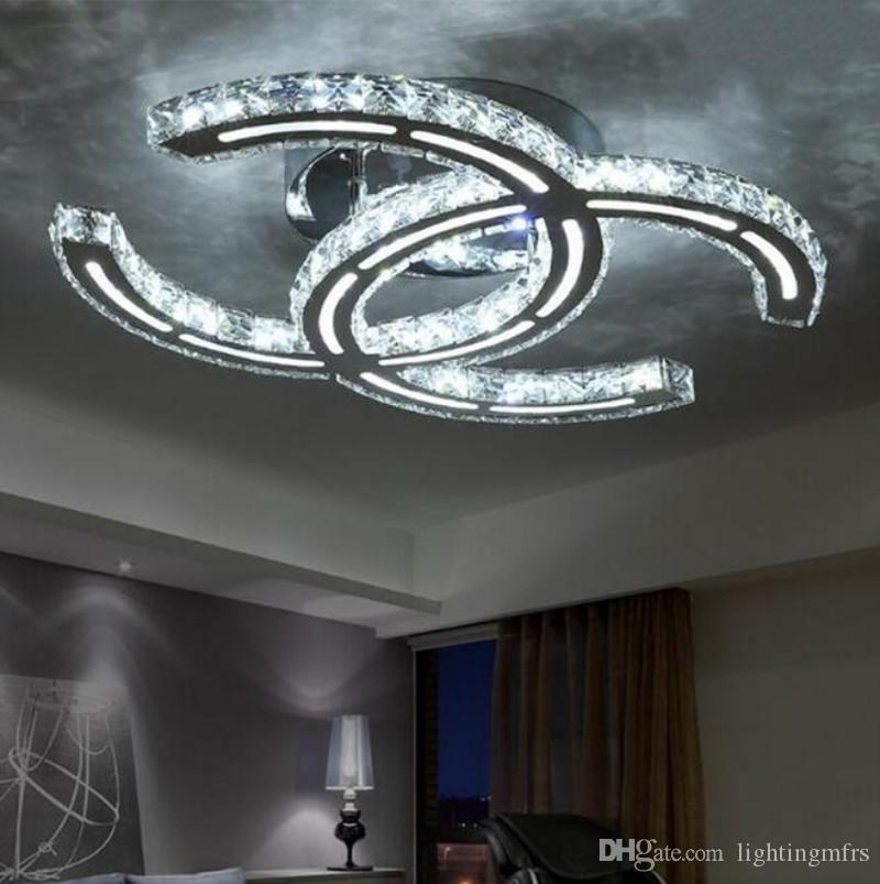 Modern Clear Crystal Chandeliers LED Ceiling Living Room Lights Bedroom Lamps Warm Clothing Store Fixtures Restaurant Droplight