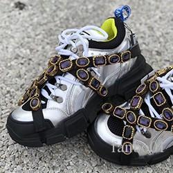 Nuovo progettista FlashTrek Sneaker con cristalli rimovibili progettista del mens di lusso Scarpe casual stilista di lusso Womens Shoes Sneakers 05