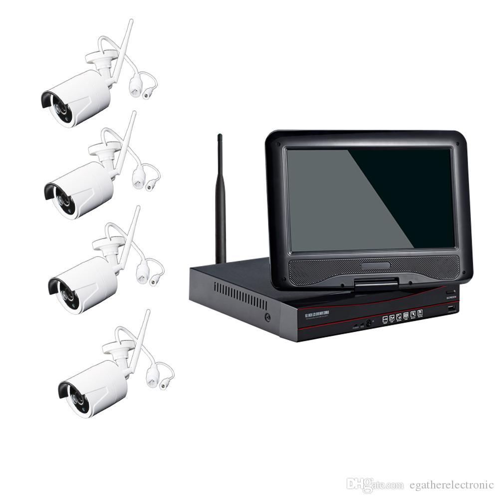 1080p 4CH واي فاي الأمن كيت مع 10 بوصة وشاشات لاسلكية نظام المراقبة كاميرا سهلة التركيب اتصال السيارات لا حاجة Setiing