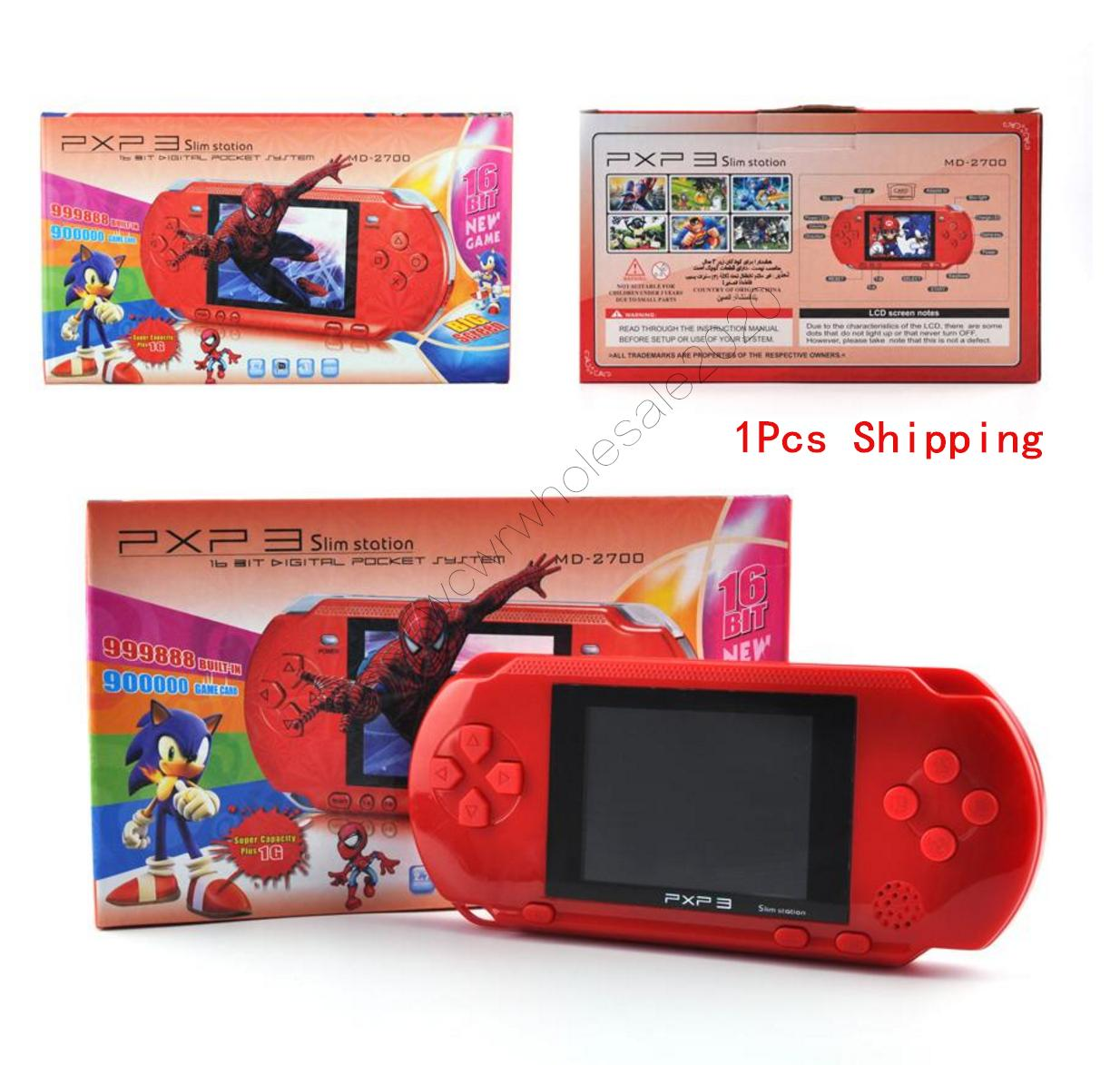 PXP3 16Bit Games Console Handheld Retro TV-Out Video Game Cartridges PXP PVP PAP GB NES SUP Game Console SEGA ortable Game Players