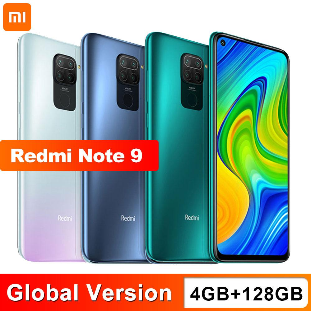 "Global Versión Xiaomi redmi Nota 9 4 GB 128 GB Smartphone Cámara Helio G85 Octa Core Quad 48MP trasera 6,53"" DotDisplay 5020mAh"