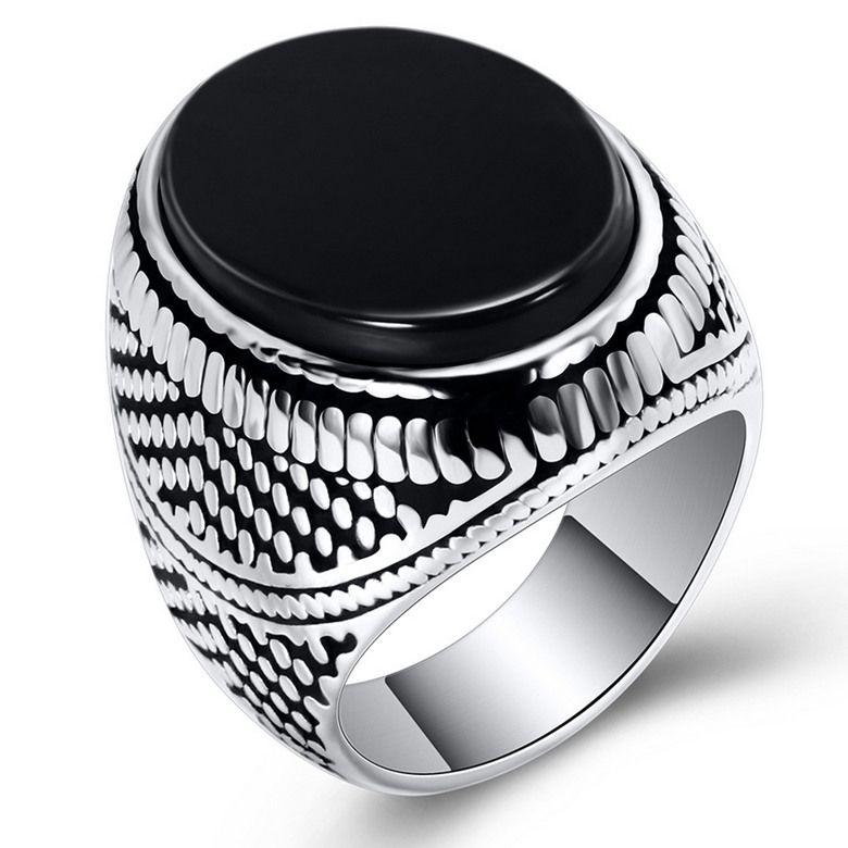 Edelstahl Ringe Schmuck Europäischen und Amerikanischen Stil Vintage Mode Schwarz Zirkon Cluster Ringe Großhandel Männer Titan Stahl Ring LR061