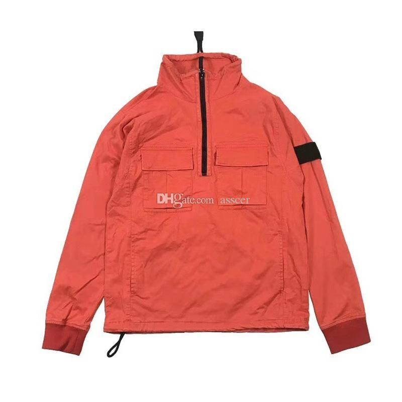 19SS VIEJO DYE TRATAMIENTO diseñador de la chaqueta chaqueta de nylon TELA Pullover Invierno Hombres Mujeres Abrigos de moda de vestir exteriores del tamaño M-XXL