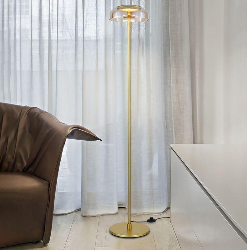 Yaratıcı basit zemin oturma odası yatak odası yeni tasarım sanatı ev dekorasyon aydınlatma için lamba krom altın ayakta cam topu lambalar
