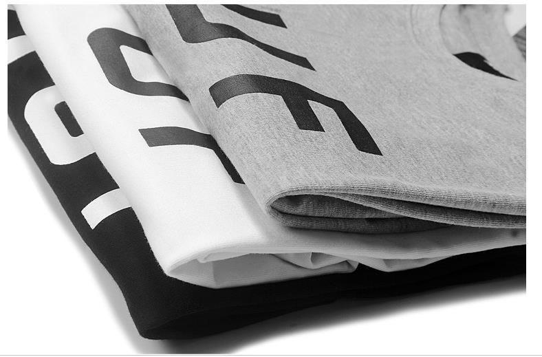 Мужчины Женщины Мальчик подросток футболка летней Letters Printed HIPHOP скейтборд Топы с коротким рукавом Одежды тройники
