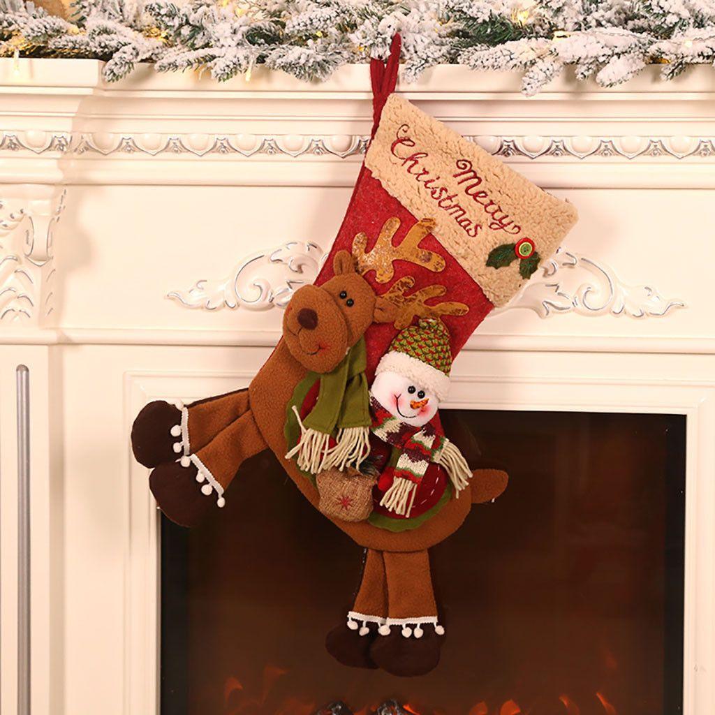 Оптово-Новый год 2020 Симпатичные рождественские куклы Санта-Клаус / снеговика / Elk Noel украшения рождественской елки для дома Xmas Navidad 2019 Дети подарков