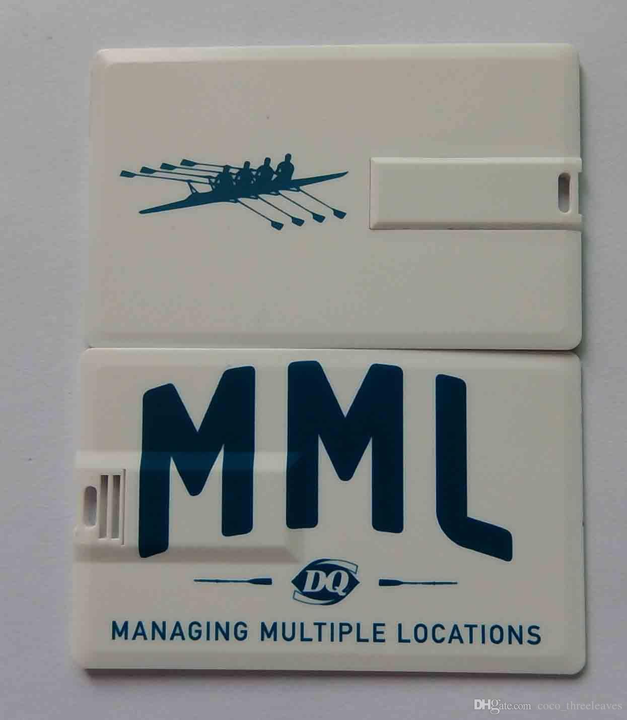 Promotional Customized Full Color Logo USB Flash Drive Click Card memory stick 512mb 1gb 2gb 4gb 8gb 16gb 32gb 64gb