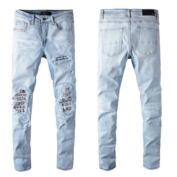 2020 bon marché hommes jeans déchirés motard jeans motards slim fit pour jeans de créateur de mode pour hommes hommes de hip-hop de bonne qualité - 05