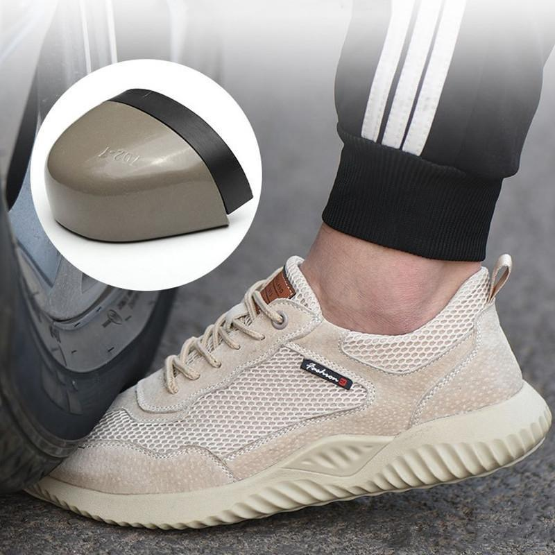 Scarpe Uomo di sicurezza unisex Air Mesh lavoro scarpe a punta Stivaletti uomo acciaio di alta qualità per la sicurezza Stivali maschio lavoro stivali