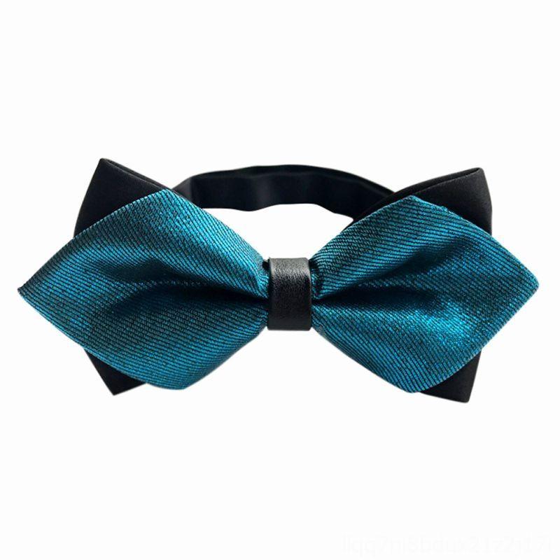 Bow Erkek Polyester Kravat Katı Boyun Tie Seti Kravatlar Ekose Bow Kravatlar Düğün PARDY Kelebek Papyon Cravat boyunbağı