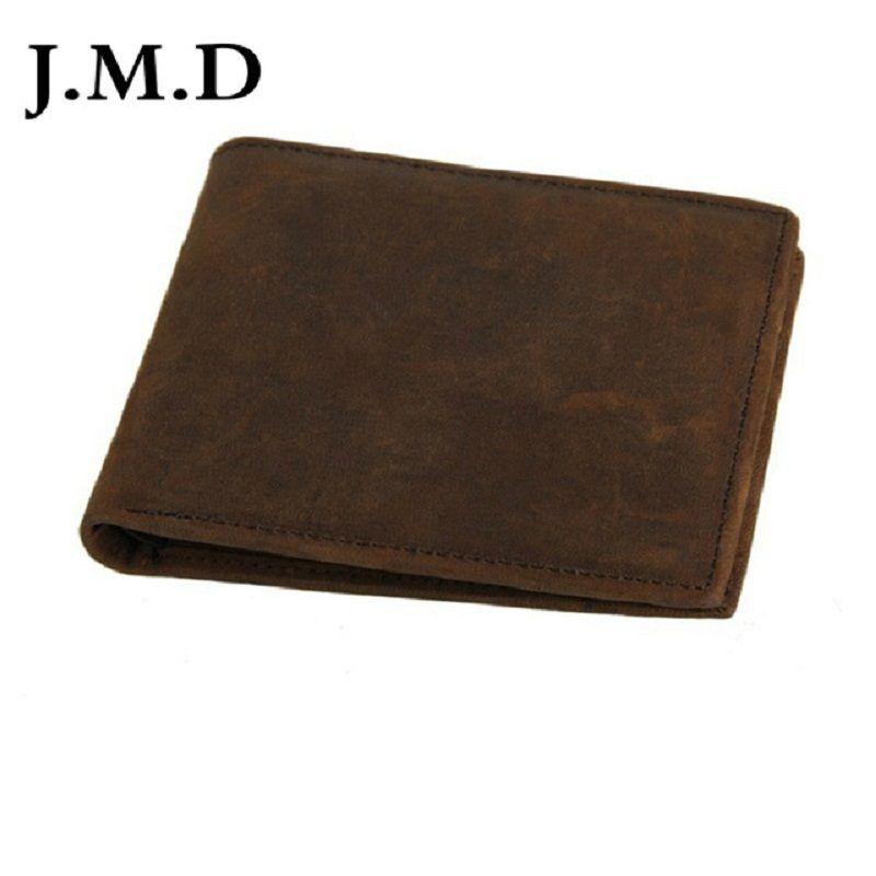 Carteira de couro de couro de óleo 100% Moda masculina Novo portador Crazy Horse Chegada J.M.D Cartão da carteira de cera Cartão 2019 8047 QPJKI