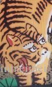 Ücretsiz nakliye okul G Sırt Çantası Çanta şerit baskılı popüler hakiki kadın Gerçek Deri EXPLORER Caleido kaplan Josh sırt çantası Michan baskılı