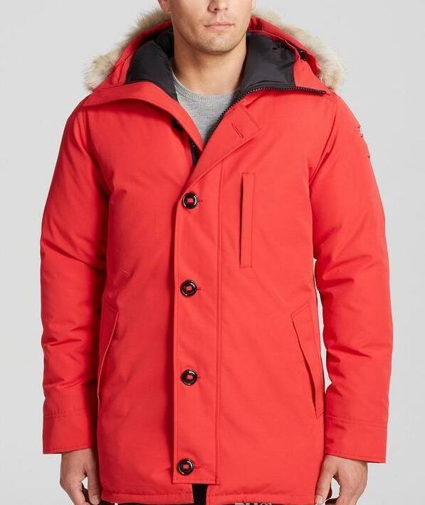 Canada Chateaus Brand Mens Veste Homme Outdoor Winter Jassen Outerwear Big Fur Hooded Fourrure Manteau Down Jacket Coat Hiver Parka Doudoune