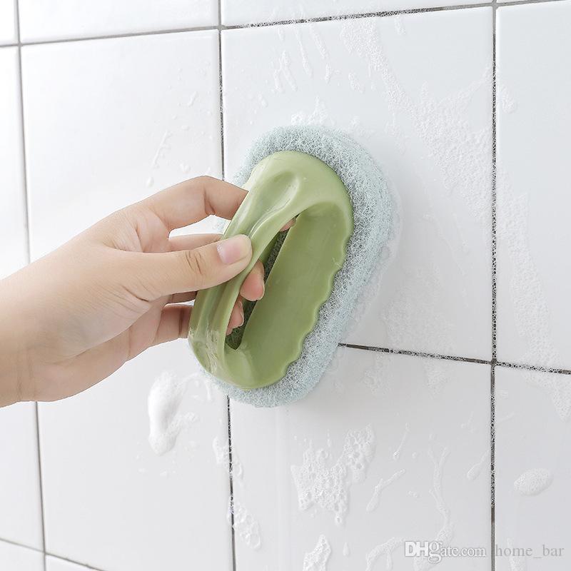 Eponge Pinceau magique fort Décontamination poignée Brosse pour salle de bains toilettes Carreaux de céramique Bowl Pan Pot mur de cuisine Outils de nettoyage