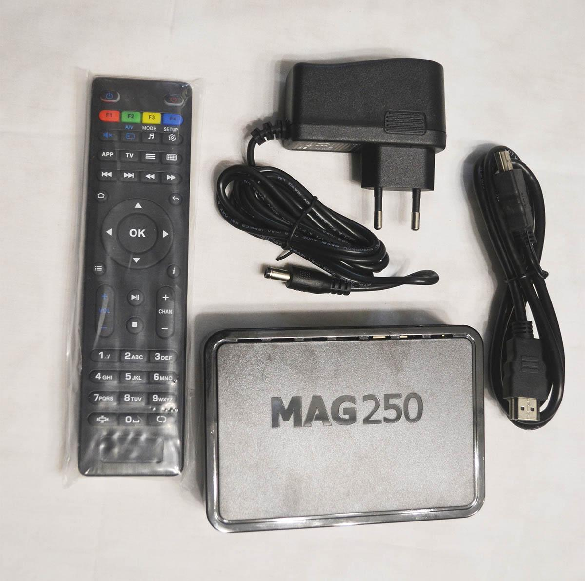 New MAG250 Linux TV Media HDD Player STI7105 Firmware R23 Set Top Box Same as Mag322 MAG420 System streaming