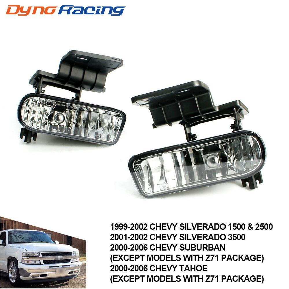 시보레 CHEVY 99-02 실버라도에 대한 안개 빛, 00-06 교외 / 타호 투명 렌즈 범퍼 안개 빛 운전 램프 TT101000-CL