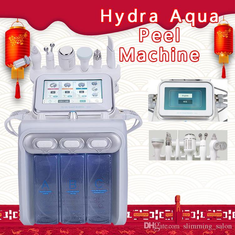 2019 Salon Want 6 في 1 Hydra Facial Dermabrasion Dermabrasion Spray with RF Bio Lifting Spa facial / Hydro Microdermabrasion