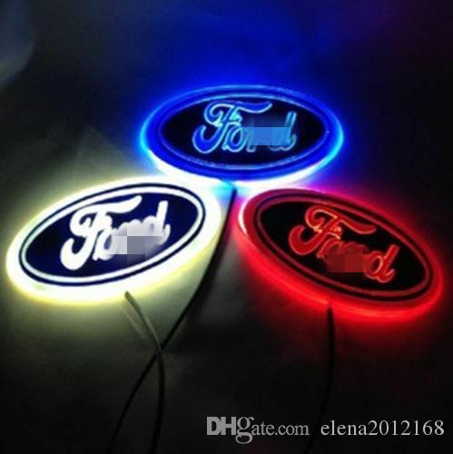 포드 로고 장식 4D LED 자동차 테일 로고 빛 배지 램프 엠블럼 스티커