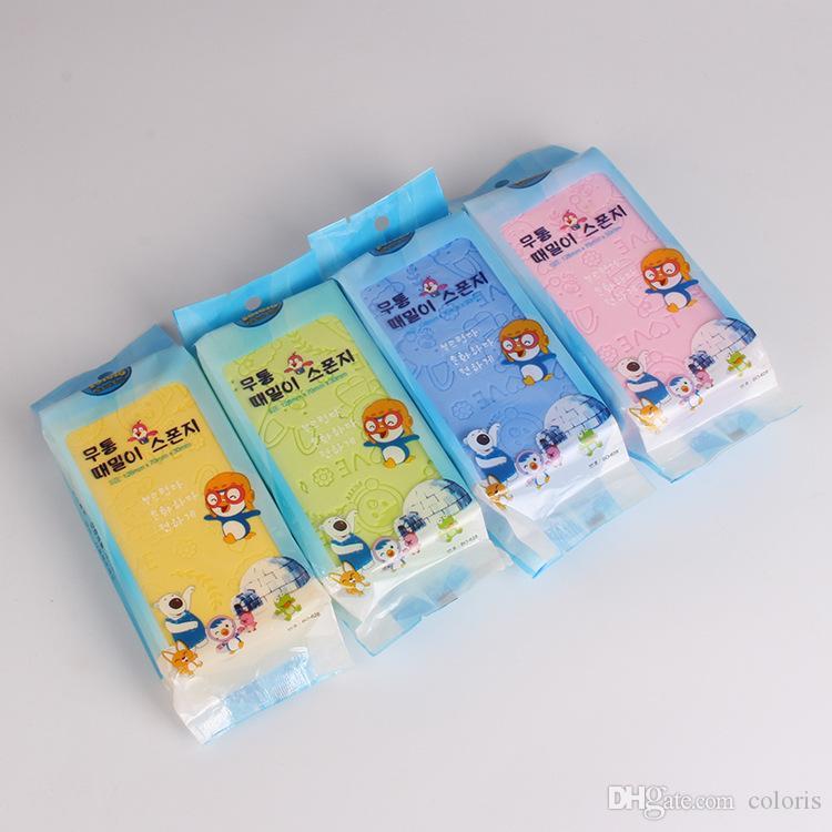 New Body Wash Sponge Baby Cartoon Exfoliating Loofah Bath Tools High Density Clean Body Sponges