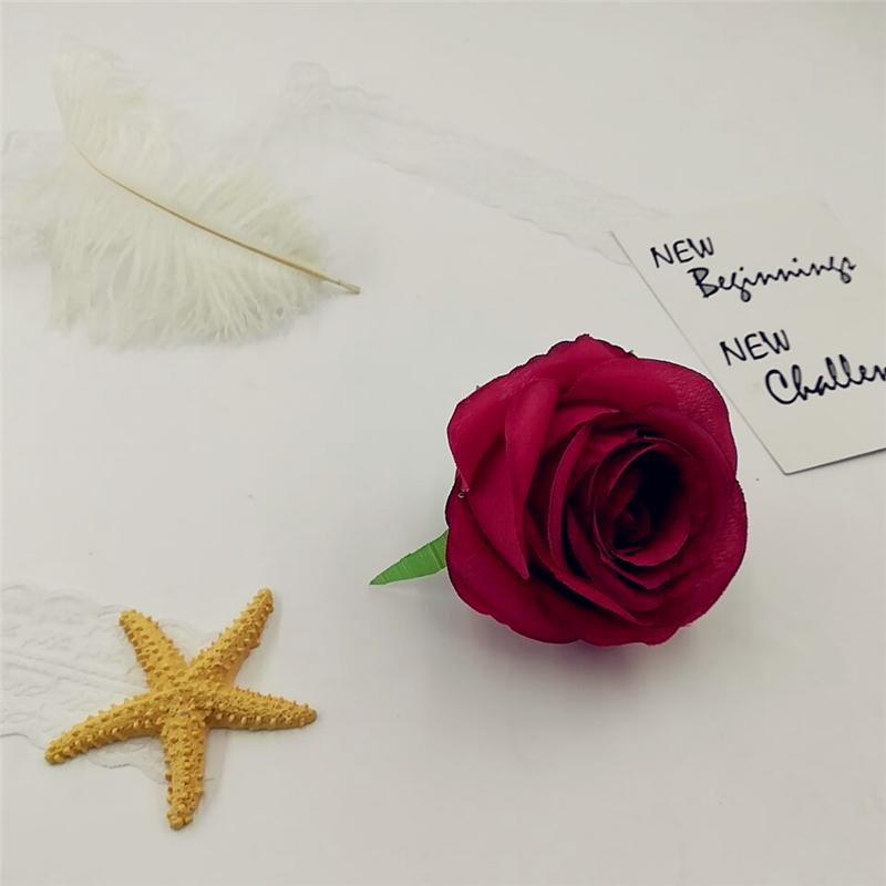 10 см Искусственные Цветы Шелковые Розы Головы Для Украшения Свадьбы Партия Поддельные Скрапбукинг Цветочный Венок Аксессуары Для Дома