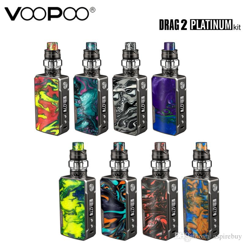 Original Voopoo Drag 2 Platinum Kit 177W Box MOD Vape With 5ML Uforce T2 SubOhm Tank U2 N3 Coil Electronic Cigarette Vaporizer