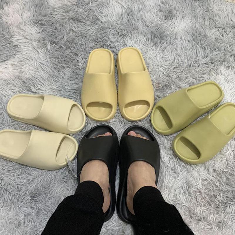 kanye sandalias de los zapatos del diseñador de espuma de triple negro blanco hueso roja del desierto de resina de arena de tierra marrón hombres deslizador de las mujeres zapatillas de deporte de la plataforma pantoufle