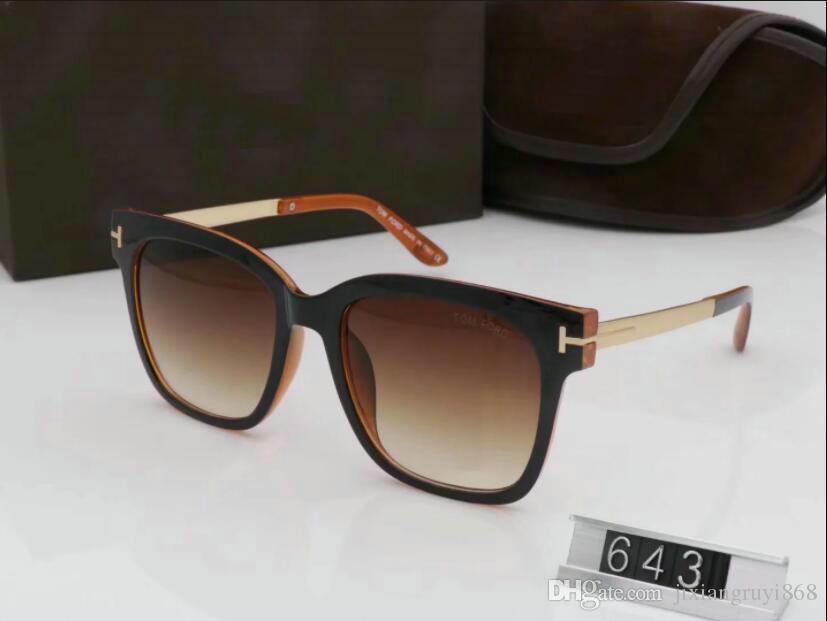 1 pcs Nouveau luxe top qualtiy Nouvelle Mode 0392 Tom Lunettes de soleil pour homme femme Erika Lunettes ford Designer lunettes de soleil avec boîte d'origine 12
