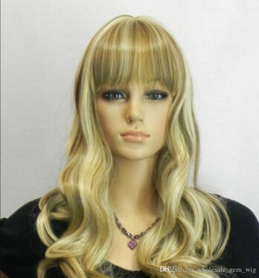 WIG free shipping Sexy Ladys Long Curly Wigs Fashion Party Cosplay Wigs Heat Resistant Hair