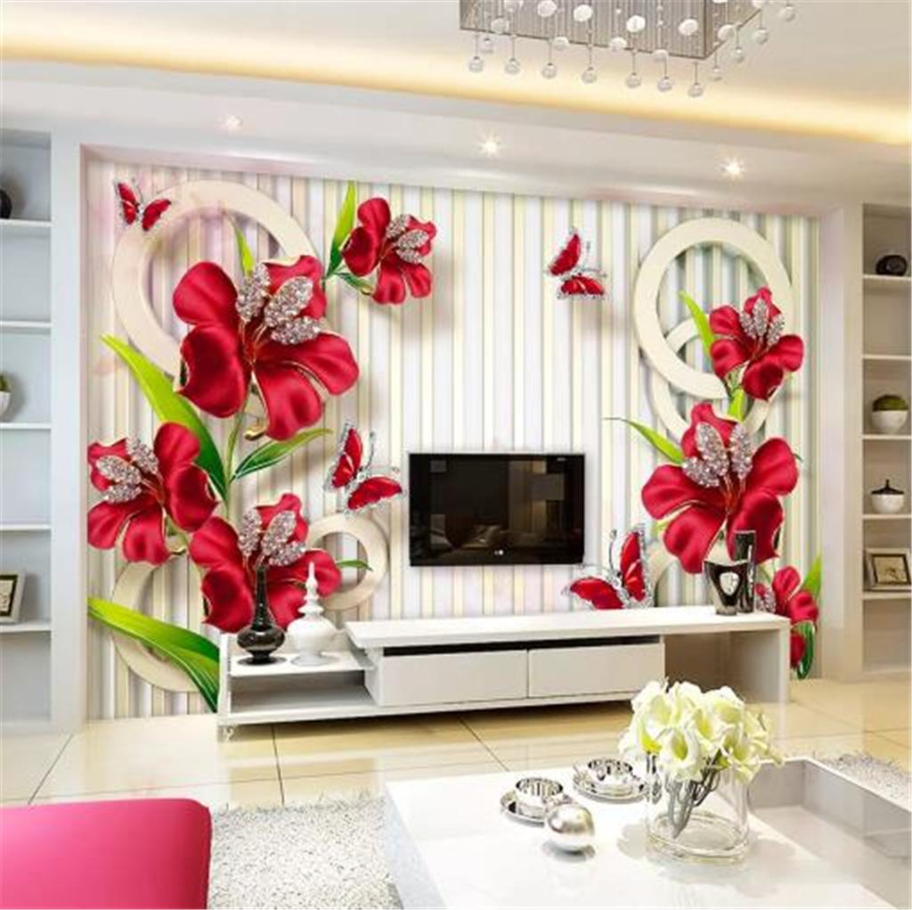 Floral Wallpaper Promotion 3d Wallpaper New Exquisite Three