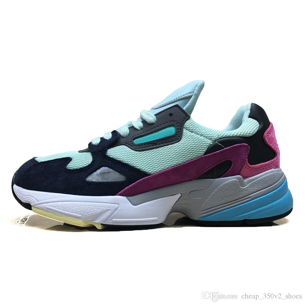 Acheter ADIDAS Vente Chaude Falcon W Casual Chaussures Pour Femmes Hommes Falcon Chaussures De Luxe Designer Baskets Originaux Jogging À L'extérieur