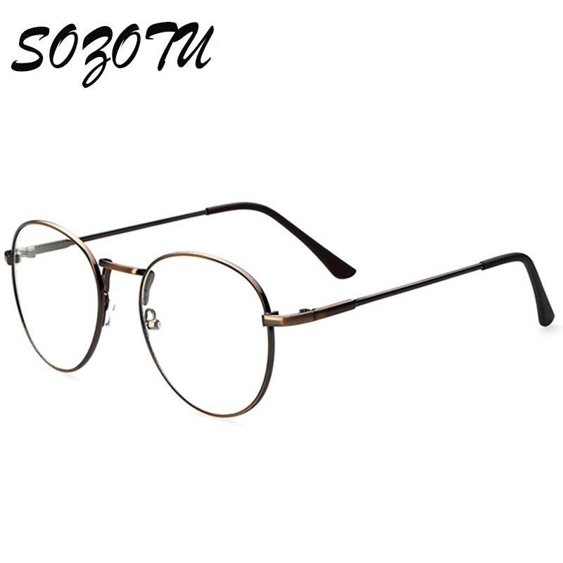 الجملة- النظارات البصرية إطار المرأة الكمبيوتر جولة نظارات نظارات النظارات الإطار للنساء شفافة واضحة عدسة الإناث oculos yq0