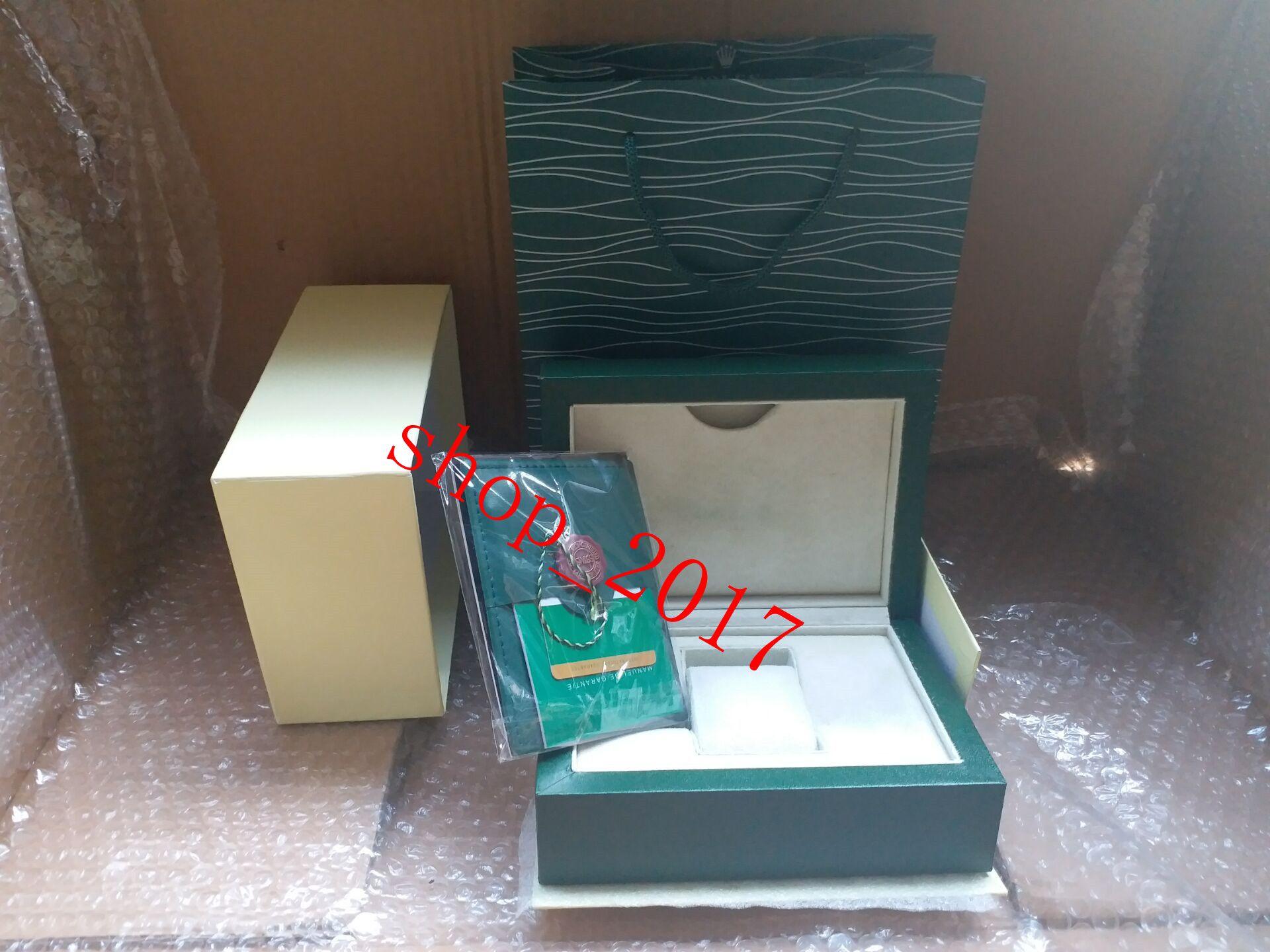 Nouveau Top hommes de luxe pour boîte de montre ROLEX Original boîte intérieure montres extérieures de la femme boîte de montre-bracelet
