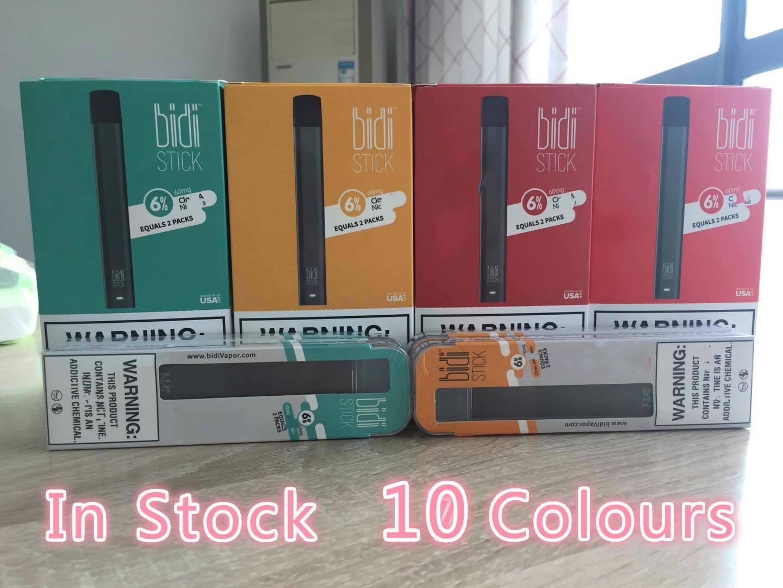 In Stock Bidi Stick Disposable Pod Device Portable Kit Pre-filled Cartridges Vape Pen Vapor 1.4ml 280mAh Battery eCig Carts Factory offer