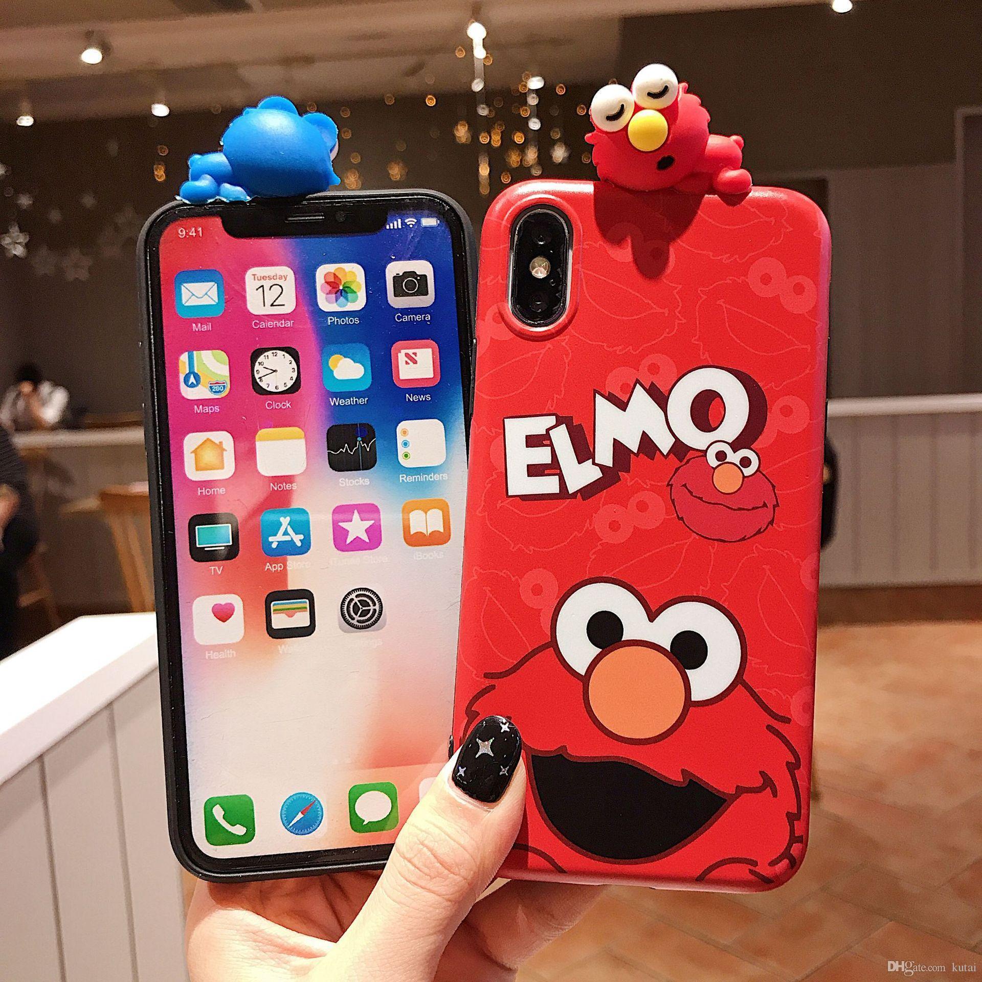 Горячий роскошный дизайн Cute Sesame Street Phone case для iphone cover 11 pro max X XS XR пара силиконовый чехол для coque iphone 8 7 6 6S Plus