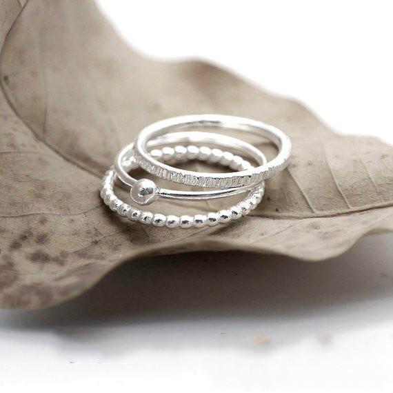 3 adet moda basit 925 standart gümüş beyaz elmas kadın Yüzük Nişan Düğün Gelin prenses aşk yüzük boyutu 6-10