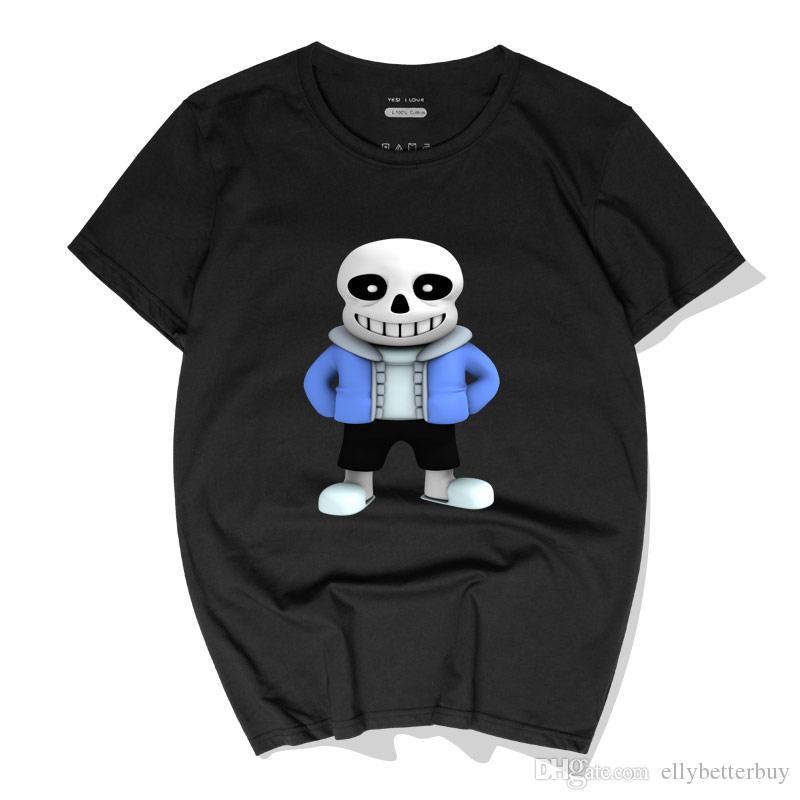 Oyun Pamuk Tees undertale Yeni Casual Erkek Tişörtler Yeni Moda Kısa Kollu Yuvarlak Yaka Polos Yüksek Kaliteli Streetwear Tops